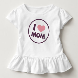 Simple I Love Mom Mother's Day | Ruffle Tee