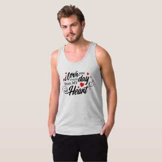Simple I Love You Everyday Valentine | Tank Top