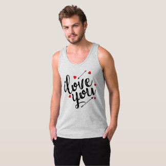 Simple I Love You Valentine | Tank Top