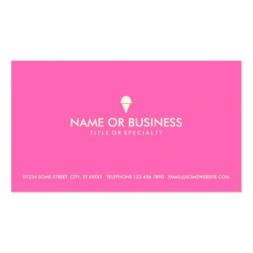 simple ice cream business cards