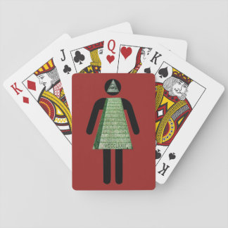 Simple Illuminati Girl Playing Cards