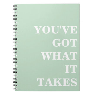 Simple Inspirational Notebook