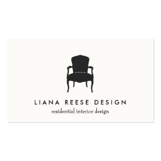 Simple Interior Design French Chair Logo Cream Pack Of Standard Business Cards