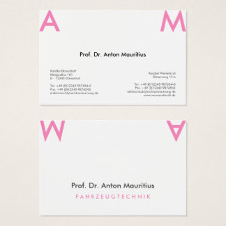 Simple is different business card