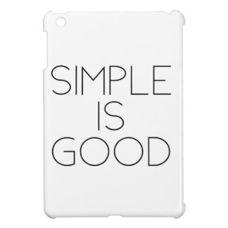 Simple is good cover for the iPad mini