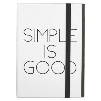 Simple is good iPad air case