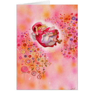 Simple joys- Happy Flower Afternoon Greeting Card