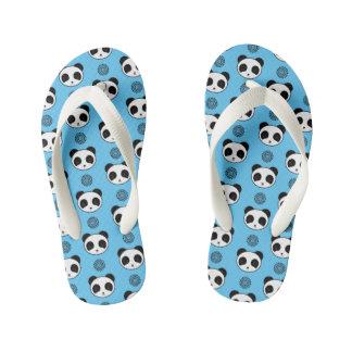 Simple Kawaii Panda Mandala Pattern Kid's Thongs