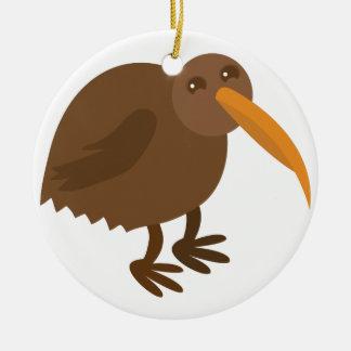 Simple KIWI Bird Ceramic Ornament