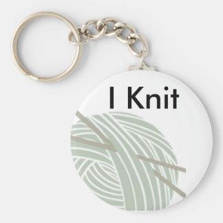 SImple Knitting Ball of Yarn Key Ring