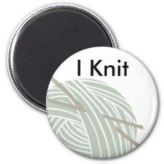SImple Knitting Ball of Yarn Magnet