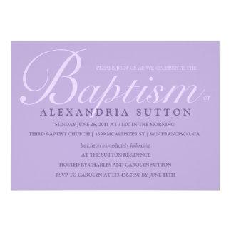 Simple Lavender Baptism/Christening Invite