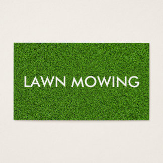 Simple Lawn Mowing Business Cards