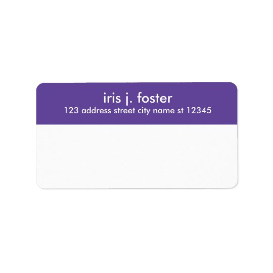 Simple layout mailing label with return address address label