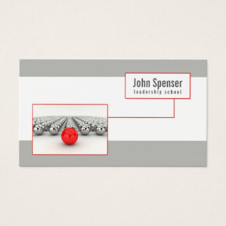 Simple Leadership School Business Card