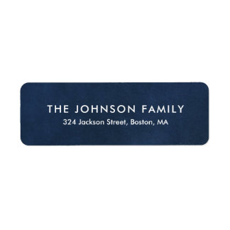 Simple Legible Navy Return Address Label