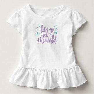 Simple Let's Go See the World | Ruffle Tee