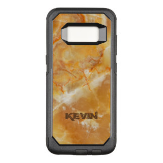 Simple Light Beige & Brown Marble Texture OtterBox Commuter Samsung Galaxy S8 Case