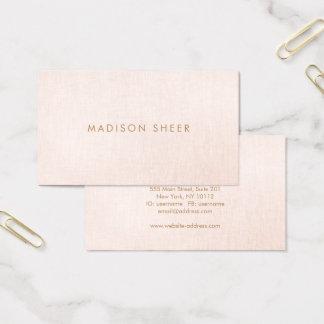 Simple, Light Blush Pink, Stylish Minimalistic Business Card