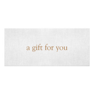 SIMPLE Light Gray Gift Certificate