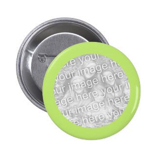simple light green photo frame 6 cm round badge