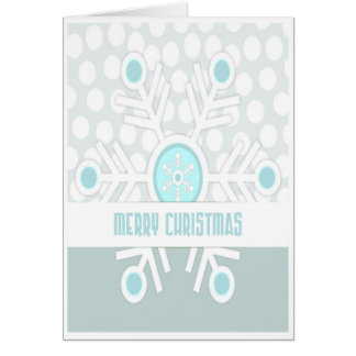 Simple Light Snowflake Christmas Card