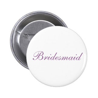 Simple lilac and white Bridesmaid button