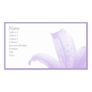 Simple Lilac Pack Of Standard Business Cards