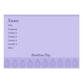 Simple Lilac Business Card