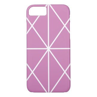 Simple-Lined Case / White & Pink