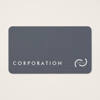 Simple linen texture business cards. White back. Business Card