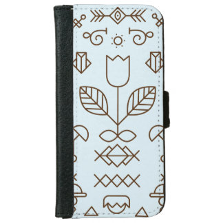 Simple lines and shapes iPhone 6/6s Wallet Case