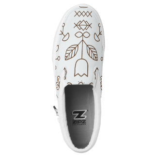 Simple lines and shapes Slip On Printed Shoes