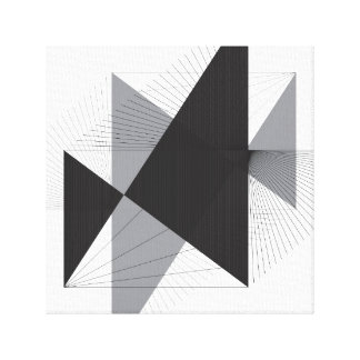 Simple Lines and Triangles on Canvas Canvas Print