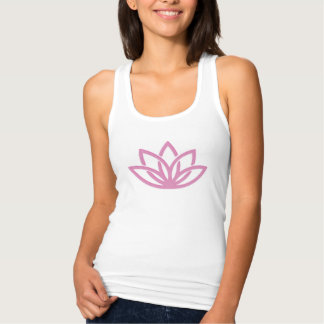 Simple Lotus Yoga Fitted Tank