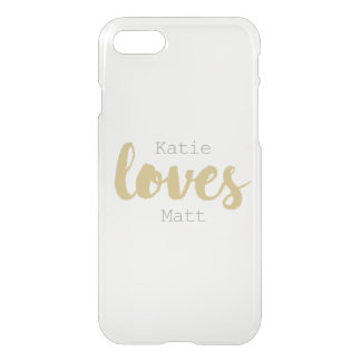 Simple love (gold) - Clear Case