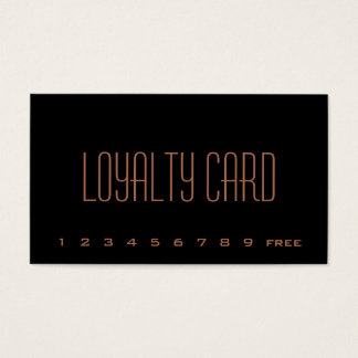 Simple Loyalty Punch Card