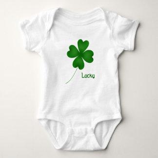 Simple lucky shamrock baby bodysuit