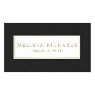 Simple Luxe Black Linen Writer, Author, Blogger Pack Of Standard Business Cards