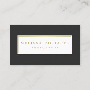 Author business cards zazzle au simple luxe black linen writer author blogger business card reheart Image collections