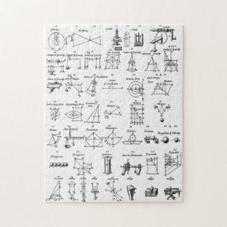 Simple Machines ~ Mechaniks ~ Ephraim Chambers  ~ Jigsaw Puzzle
