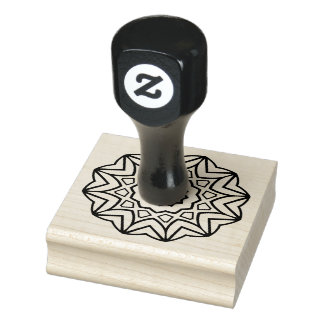Simple Mandala Rubber Stamp