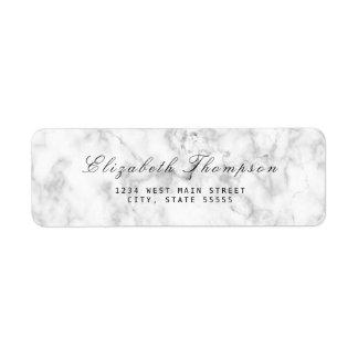 Simple Marble Return Label