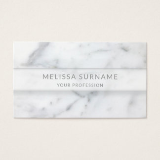 Simple Marble Texture Look And Custom Name & Info Business Card