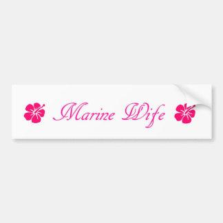 simple marine wife bumper sticker