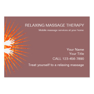 Simple Massage Business Cards