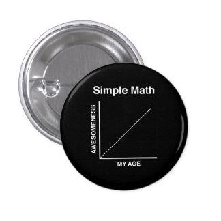 Simple Math 3 Cm Round Badge