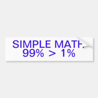 Simple Math Bumper Sticker