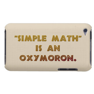 Simple Math is an Oxymoron Barely There iPod Case