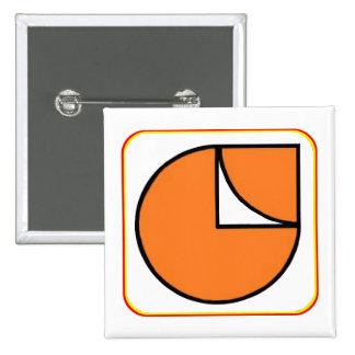 Simple MEC Button. 15 Cm Square Badge
